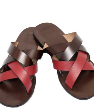 376fbfda4eca Criss cross male slippers. Red n brown